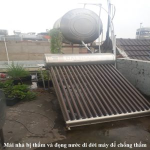 di dời để chống thấm mái nhà